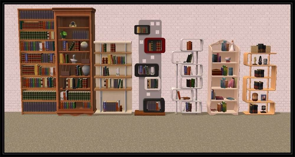 Bookcases for all tastes