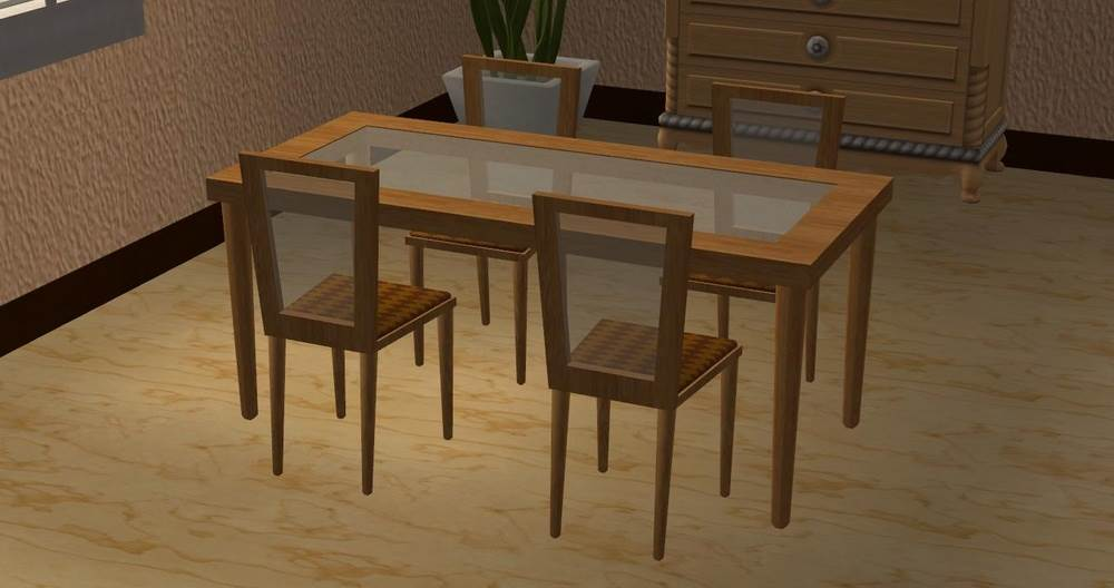 Glass-Topped Dining Chairs