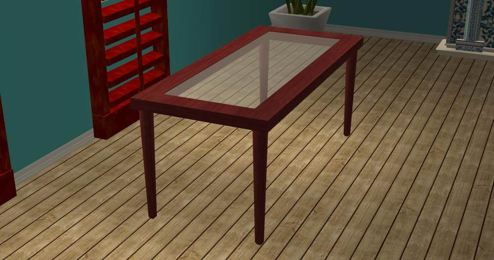Glass-Topped Dining Table Recolours