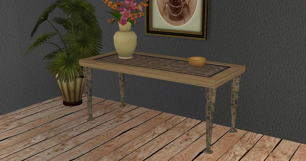 Peasant Table – Sims 2 Base Game