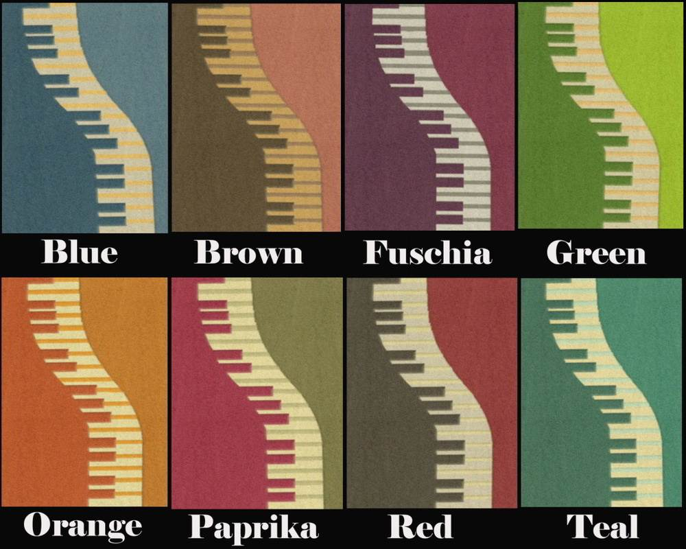 Piano Keyboard Rug Recolours
