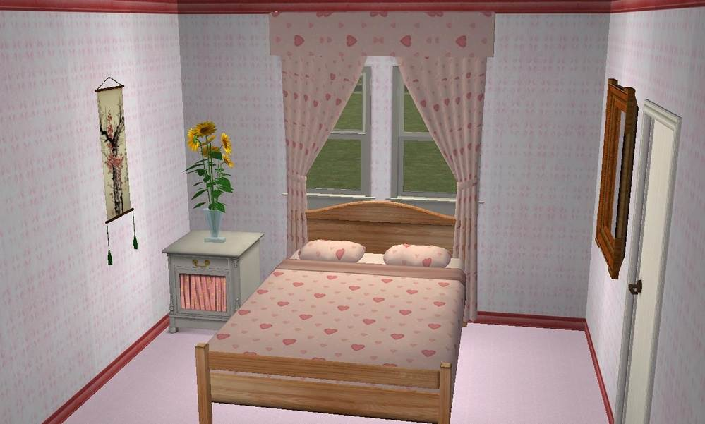 Girl's Bedding & Curtain Set – Maxis Recolours