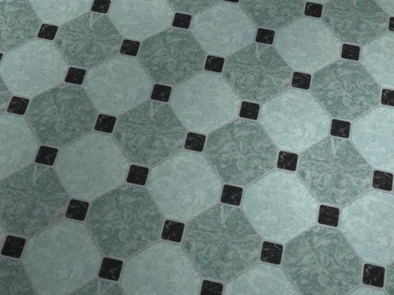 Antique-Effect Floor Tiles