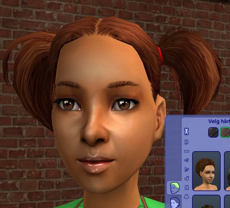 Base Game Fly Pig Tails Hair Mesh Replacement
