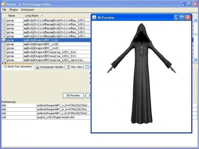 Postal – Sims 3 Package Editor and API